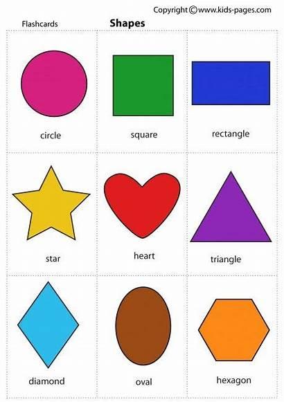 Shapes Flash Cards Lots Toddlers Coloring Magdalena