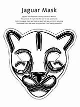 Mask Coloring Jaguar Pages Masks African Printable Animal Mayan Totem Pole Template Drawing Wolf Templates Teacollection Mexico Gras Mardi Masker sketch template