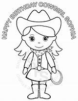 Cowgirl Coloring Printable Birthday Cowboy Sheets Detailed Barbie Personalized Colouring Horse Kajal Agarwal Rodeo sketch template