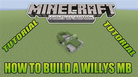 minecraft army jeep minecraft xbox edition tutorial how to build a willys mb