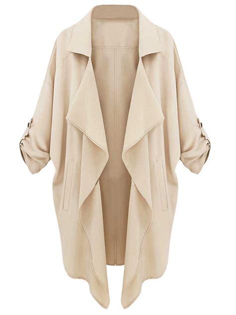 Draped Coats - a dd choies beige draped coat and beautiful