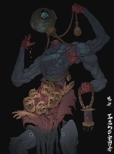 les digital paintings de cyborgs mutants epoustouflants de ching yeh design spartan art