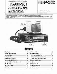 Kenwood Tk981 Service Manual