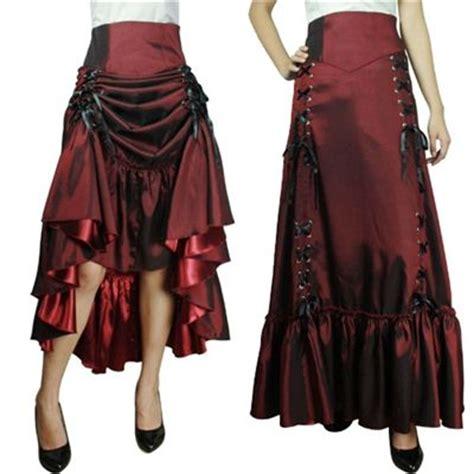 details    lace  renaissance skirt burgundy