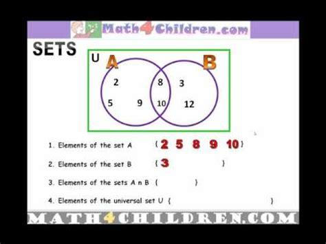 venn diagrams sets  grade math youtube