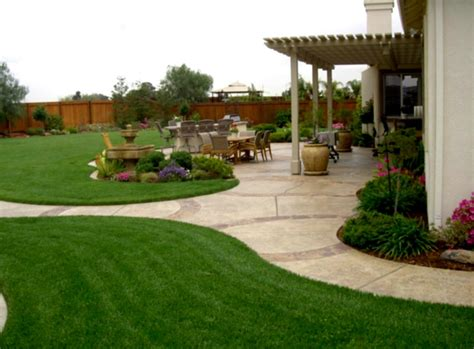 simple backyard ideas landscaping cheap pinterest homelkcom