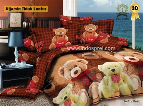 Sprei Katun Anak Ukuran 200x200 jual beli sprei golden king karakter anak teddy