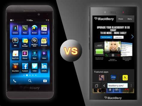 blackberry z3 vs blackberry z10 the in house fight to