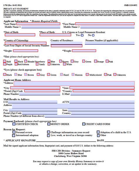 Fbi Background Check Fbi Background Check Application Form Hunt Hankk Co