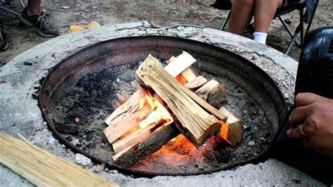 start  campfire  unseasoned wood youtube