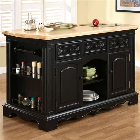 powell kitchen island powell pennfield kitchen island with three drawers
