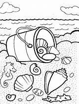 Coloring Shells Sea Pages Bucket Seashells Beach Printable Summer Shell Colouring Coloringhome Template Animal Sheets Adult Popular Tocolor Button Using sketch template