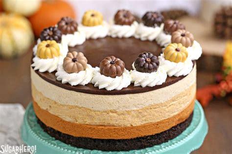 pumpkin chocolate mousse cake sugarhero
