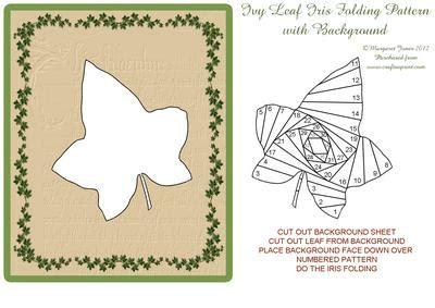 tracing ivy leaf iris folding pattern  background