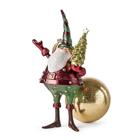 santa with tree christmas ornament gump s