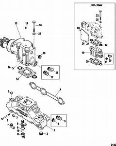 Mercruiser 4 3l Mpi Alpha    Bravo Exhaust Manifold  U0026 Elbow
