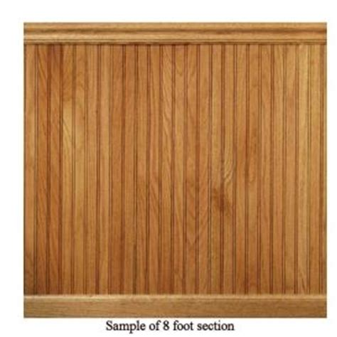 Wainscoting Wall Panels Home Depot by House Of Fara 8 Ft Oak Tongue And Groove
