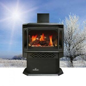 standing gas fireplace ebay