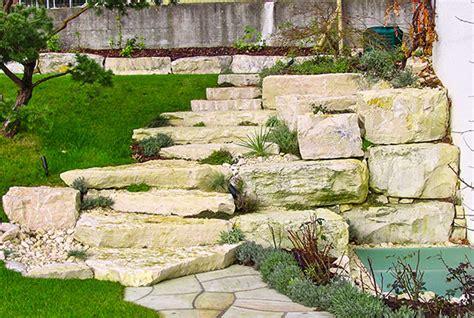 Treppe Außen Stein by Natursteintreppen Treppenanlagen Gartentreppe