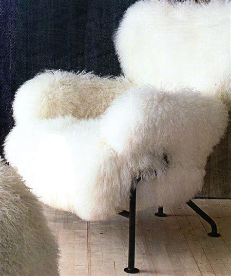 chaise fourrure fauteuil poil de chèvre matière 11 la fourrure