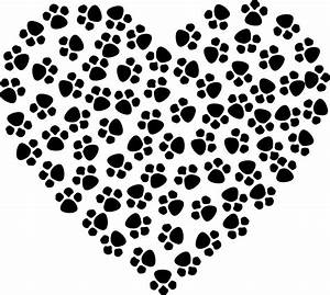 Clipart Paw Prints Heart