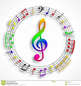 Color Violin Clef Stock Photography - Image: 33645042