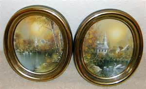 Home Interior Oval Pictures : Homco Home Interior Two Pictures Vintage Gold Oval Frames