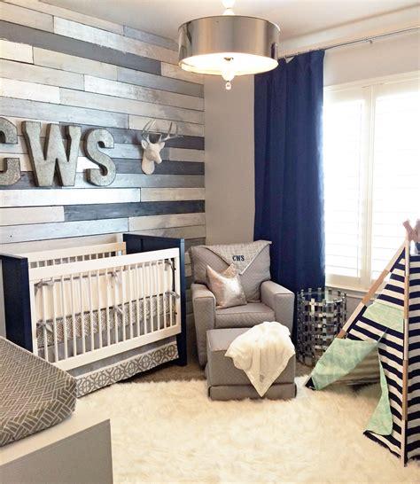 metallic wood wall nursery