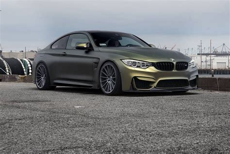 Matte Gold Starlight Bmw M4 Stuns On Zito Wheels
