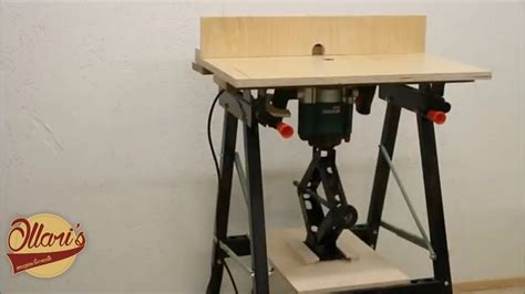 quick  easy portable router table diy oberfraese tisch