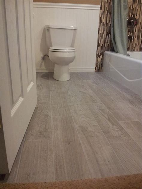 planked porcelain wood  tiled floor bathroom floor