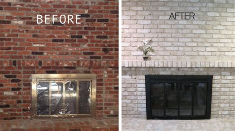 painted  brick fireplace  years   real