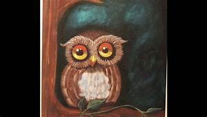 Easy Owl Beginners Acrylic Step-By-Step Painting - It's a ...