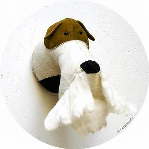 Trophée Mural Peluche : troph e fox terrier en feutre d corer decorate pinterest deco chambre ~ Teatrodelosmanantiales.com Idées de Décoration