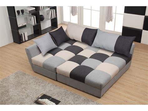 canape d angle design contemporain canapé angle convertible en tissu gris ou chocolat romane