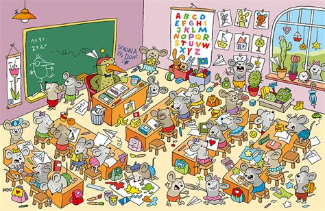 charlotte wagner illustration  der maeuse schule