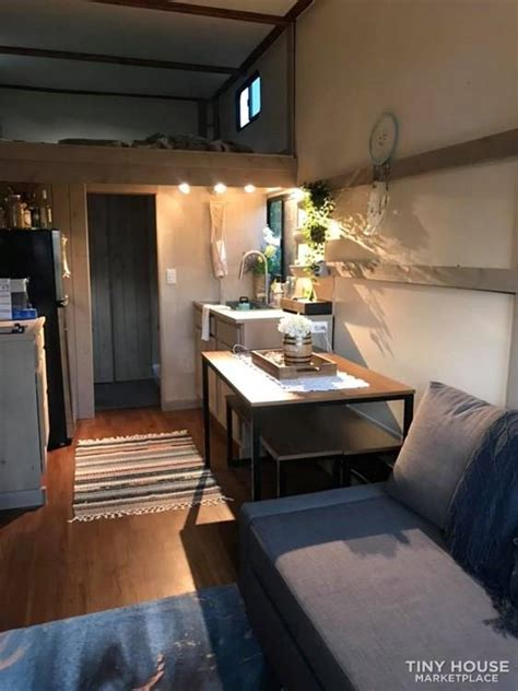 tiny house  sale converted cargo trailer tiny home