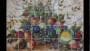 kitchen wall tiles fruit design youtube With kitchen tiles with fruit design