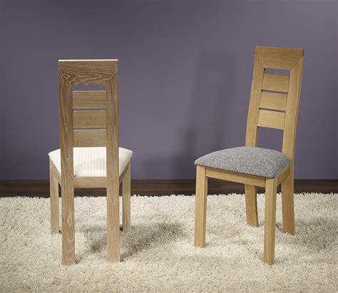 chaise en chêne massif chaise mathis en chêne massif ligne contemporaine meuble