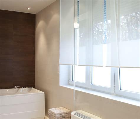 Modern Bathroom Blinds by Solar Screen Shade Modern Bathroom Brown White