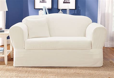 White Loveseat Slipcovers by White Sofa Slipcover Home Furniture Design