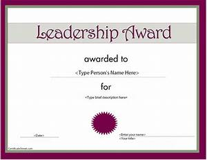 certificate street free award certificate templates no With certificate of leadership template