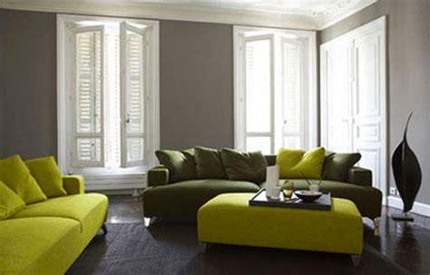 canapé vert anis decoration la peinture pour salon decoration salon mur