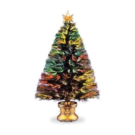 walmart christmas tree bases fiber optic firework evergreen tree walmart