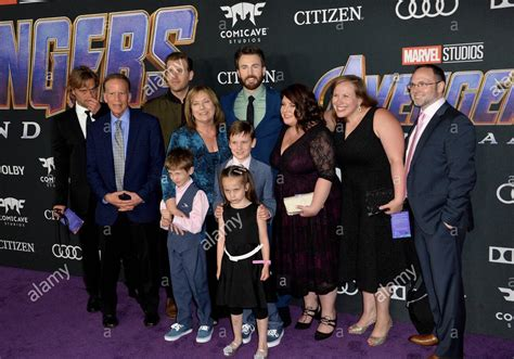 Just a reminder that Chris Evans brought his entire family ...