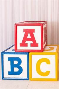 wooden abc blocks giant rental la oc With diy large letter blocks