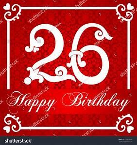 Happy Birthday Card Number Twenty Six Stock Illustration ...
