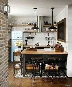 Déco Style Industriel : esprit loft avec murs de briques apparentes ~ Teatrodelosmanantiales.com Idées de Décoration