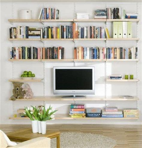 living room shelving ideas hanging birch wooden shelves home interiors
