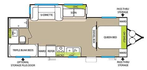 Travel Trailer Floor Plans With Bunks by San Diego Rv Rentals 26 Forest River Wildwood